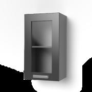Навесной шкаф 400 со стеклом 4ВС танго