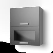 Навесной шкаф 600 горизонтальный комбинированный 6ВК танго