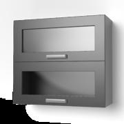 Навесной шкаф 800 горизонтальный со стеклом 8ВГС танго