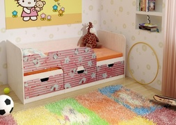 Кровать детская Минима Китти/Лайм