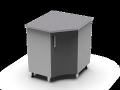 Угловой рабочий стол 850х850 угол радиусный УРР танго