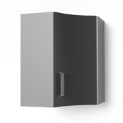 Угловой навесной шкаф 550х550 угол радиусный УВР танго
