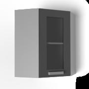 Угловой навесной шкаф 550х550 угол скос со стеклом УВС танго